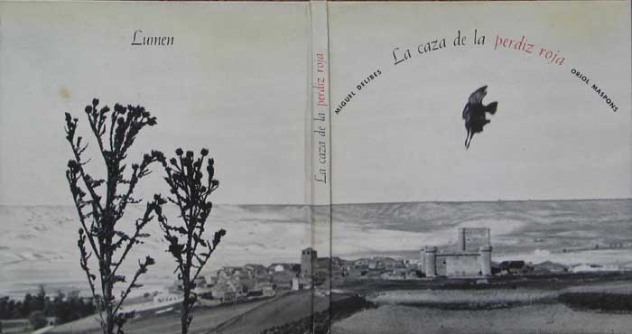 "Detalle de las tapas de ""La caza de la perdiz roja"", con fotografía de portada de Oriol Maspons."